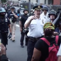 Violence begins to occur on NYPD officers as protests continue
