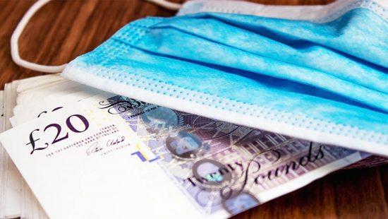 mask on a money